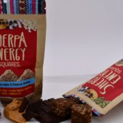 Sherpa dark chocolate peanut butter energy squares