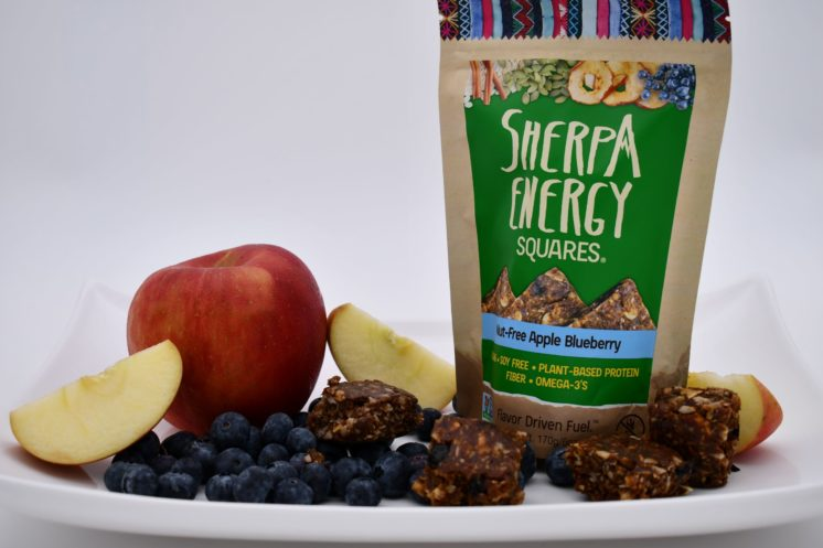 sherpa energy squares nut free apple blueberry