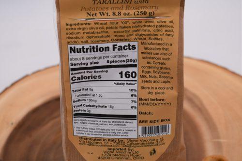 tarallini nutrition info