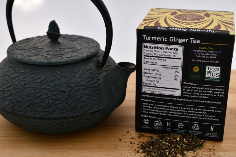 Buddha Tea Turmeric Ginger Nutrition