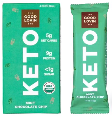 good lovin keto bars mint chocolate chip