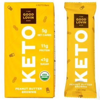 good lovin keto bars peanut butter brownie