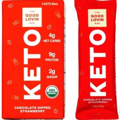 good lovin keto bars chocolate dipped strawberry