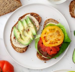 Heirloom Tomato Sandwiches