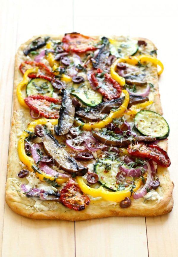 roasted veggie flatbread