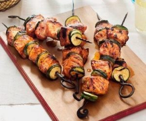 Sweet Smokey Salmon Kabobs