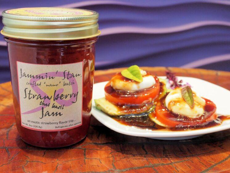 strawberry thai basil jam