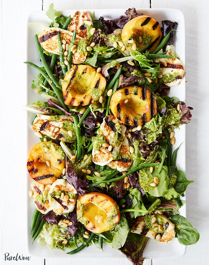 Peach and Cheese Grilled Salad