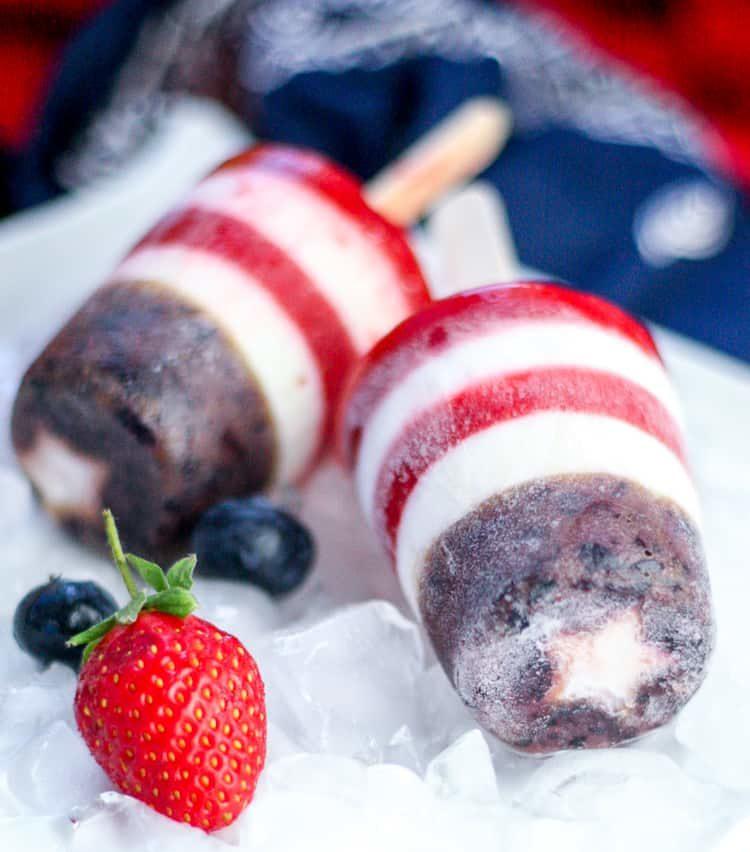 Berry Patriotic Popsicles