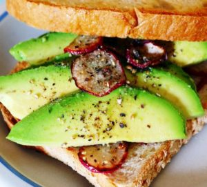 Radish & Avocado Sandwich
