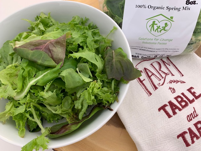 organic spring mix from soutions farms