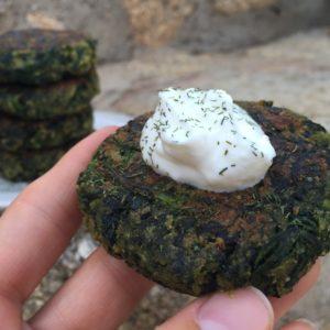 greek spinach patties