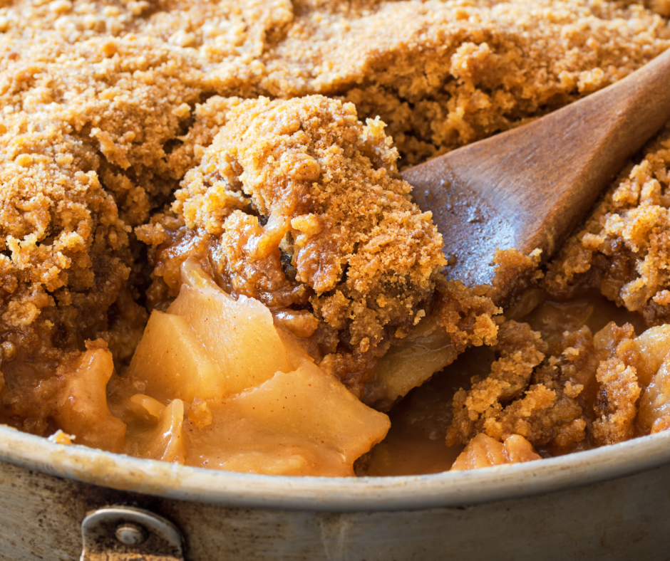 Apple Pear & Pluot Crisp
